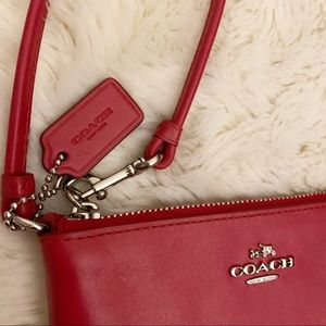 Coach Bags - COACH Wristlet Wallet, Red